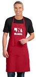 LARGE Nebraska Grandpa APRON for MEN or Women RED