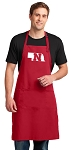 LARGE Nebraska Huskers APRON for MEN or Women RED