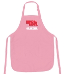 Deluxe Nebraska Grandmother Apron Pink - MADE in the USA!