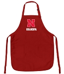 University of Nebraska Grandpa Aprons Red