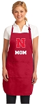 University of Nebraska Mom Aprons Red