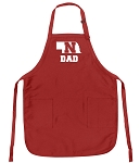 Deluxe Nebraska Dad Apron Red