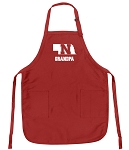 Deluxe Nebraska Grandfather Apron Red