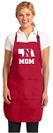 Deluxe Nebraska Mom Apron Red