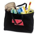 Jumbo University of Nebraska Tote Bag Black