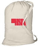 Nebraska Huskers Laundry Bag Natural