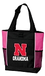 University of Nebraska Grandma Tote Bag Pink