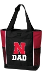 University of Nebraska Dad Tote Bag Red