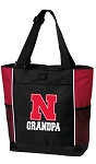 University of Nebraska Grandpa Tote Bag Red