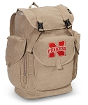 Nebraska Huskers LARGE Canvas Backpack Tan