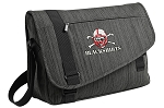 Nebraska Blackshirts Messenger Laptop Bag Stylish Charcoal