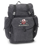 Nebraska Blackshirts LARGE Canvas Backpack Black