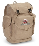 Nebraska Blackshirts LARGE Canvas Backpack Tan