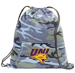 Northern Iowa Drawstring Backpack Blue Camo