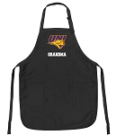 Official University of Northern Iowa GrandMa Apron Black
