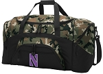 Official Northwestern Camo Duffel Bags