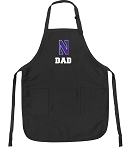 Official Northwestern University Dad Apron Black
