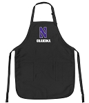Official Northwestern University Grandma Apron Black