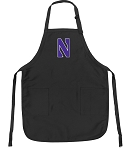 Official Northwestern Apron Black