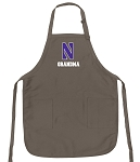 Official Northwestern Grandma Apron Tan