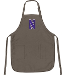Official NU Wildcats Logo Apron Tan
