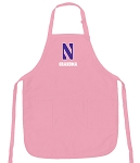 Deluxe Northwestern University Grandma Apron Pink - MADE in the USA!