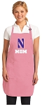 Deluxe Northwestern University Mom Apron Pink - MADE in the USA!