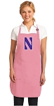 Deluxe Northwestern Apron Pink - MADE in the USA!