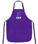 Deluxe Northwestern University Dad Apron MADE in the USA!