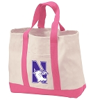 Northwestern University Tote Bags Pink