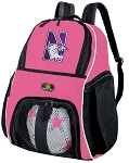 Girls Northwestern University Soccer Backpack or Northwestern Wildcats Volleyball Bag