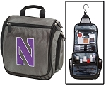 NU Wildcats Toiletry Bag or Northwestern Shaving Kit Organizer for Him Gray