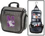 Northwestern Wildcats Toiletry Bag or Northwestern University Shaving Kit Organizer for Him Gray