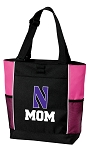 Northwestern University Mom Tote Bag Pink
