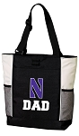 Northwestern University Dad Tote Bag White Accents