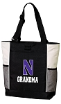 Northwestern University Grandma Tote Bag White Accents