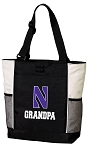 Northwestern University Grandpa Tote Bag White Accents