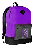 NU Wildcats Backpack CLASSIC STYLE Northwestern Backpacks