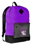 Northwestern Wildcats Backpack CLASSIC STYLE Northwestern University Backpacks
