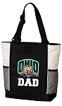 Ohio University Dad Tote Bag White Accents