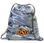 Oklahoma State Cowboys Drawstring Backpack Blue Camo