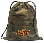 Oklahoma State Cowboys Drawstring Backpack Green Camo