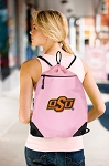 Oklahoma State Cowboys Drawstring Bag Mesh and Microfiber Pink