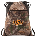 Oklahoma State Cowboys RealTree Camo Cinch Pack