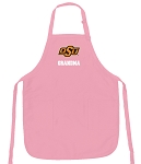 Oklahoma State Grandma Apron Pink - MADE in the USA!