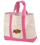 Oklahoma State Tote Bags Pink