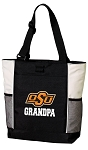 Oklahoma State Grandpa Tote Bag White Accents