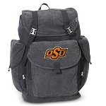 Oklahoma State LARGE Canvas Backpack Black