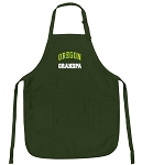 University of Oregon Grandpa Apron Green