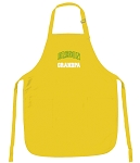 University of Oregon Grandpa Apron Yellow - MADE in the USA!